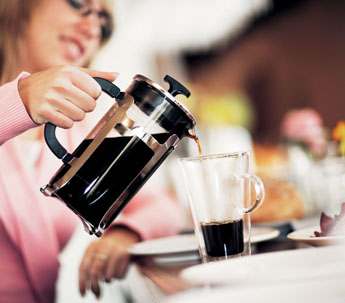 Bodum pot presses to make the best cup of coffee